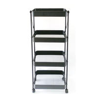 KITCHEN FLEXIBLE MOVING 4-TIER FOLDABLE ROLLING CART
